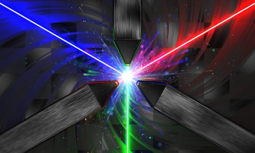 three lasers, illustration